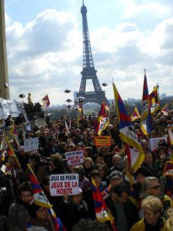 Paris Protests For Tibet-April 2008