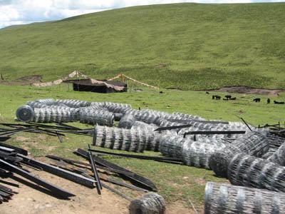 Communist China Fences Of Kham's Grasslands