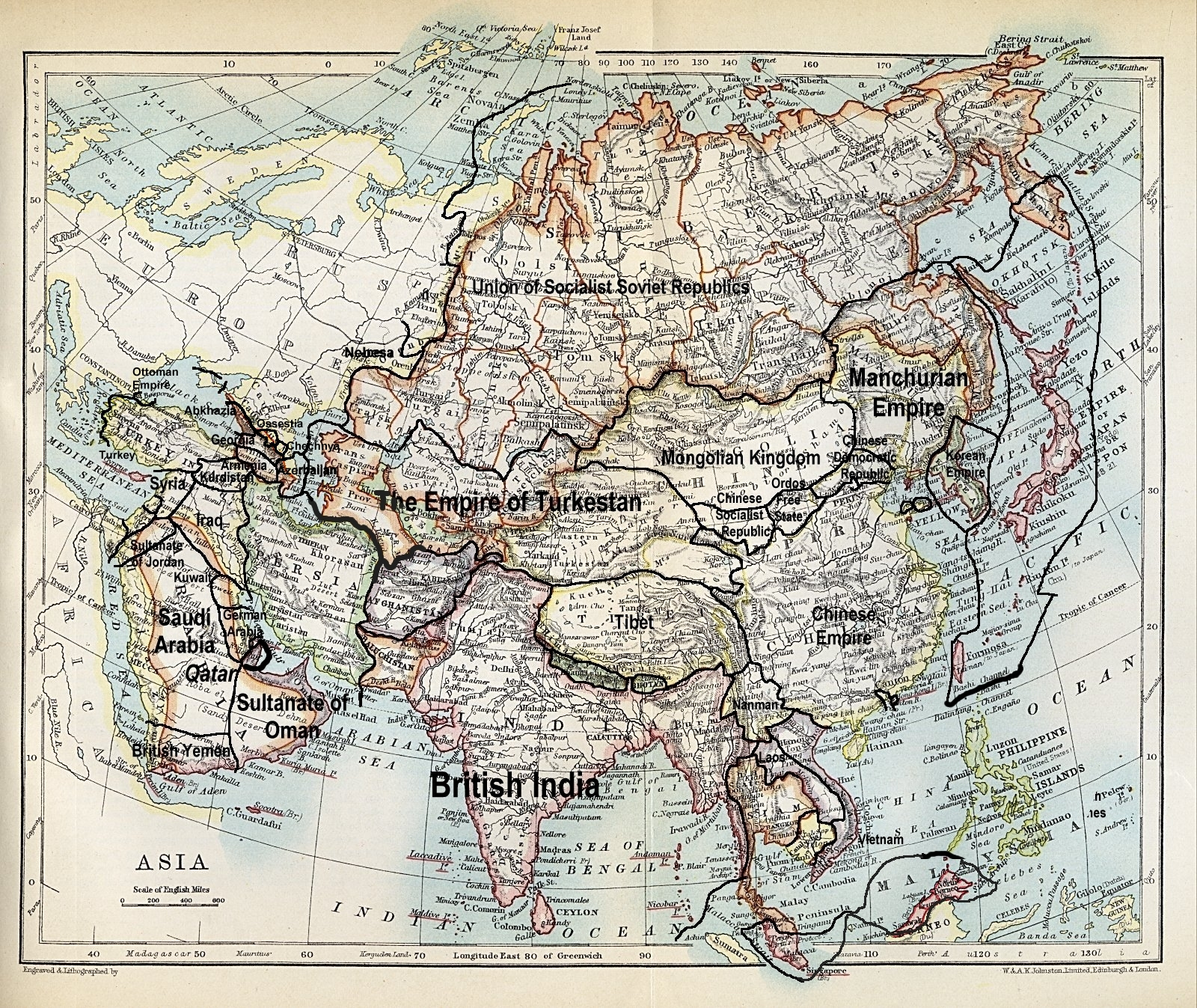 Maps of independent tibet tibet activism and information circa 1704 map showing tibet gumiabroncs Gallery