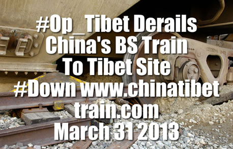 Anonymous Derails China's Site On Train To Tibet
