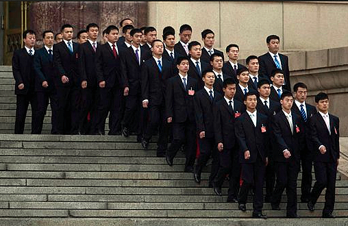 China's Security Goons-Cloned To Perfection
