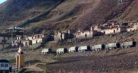 Chinese Paramilitary Invade Driru To Abuse Tibetans For Refusing To Fly China's Flag
