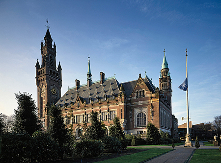 The Peace Palace, Home Of The International Court of Justice, The Hague, Netherlands.