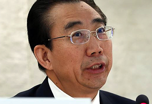 Mr Wu Hailong Of Chinese Foreign Ministry Spinning Lies To Gain China's Membership Of UNHRC