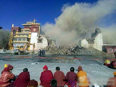 The Smoking Ruins Of Lithang Monastery
