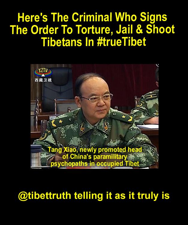 Nouvellement promu Psychopathe de lieutenant-général Tang Xiao Chine au Tibet dans Tibet