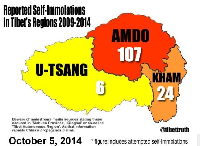 Tibetan In Self-Immolation Protest In Golog, Amdo Region dans Tibet