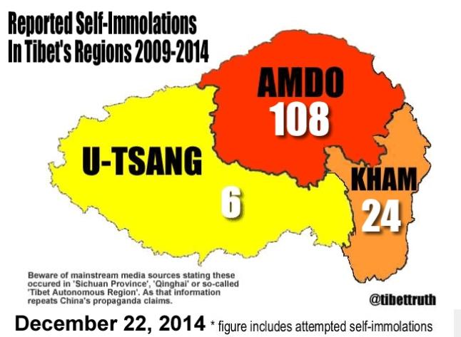 20 Year-Old Tibetan Woman Self-Immolates dans Tibet