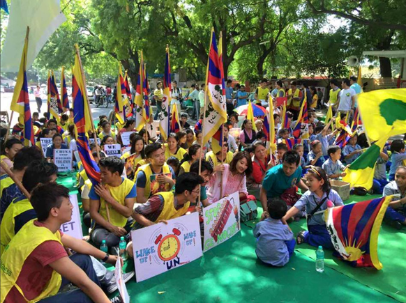 Tibetans gather in Delhi to sow solidarity with the hunger-strikers