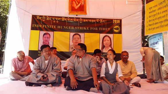 Tibetan Hunger-Strikers Begin Their Action