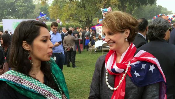 Ms MaryKay Carlson Chargé d'Affaires at the U.S. Embassy in New Delhi. Her officials refused cisas to Tibetan soccer team