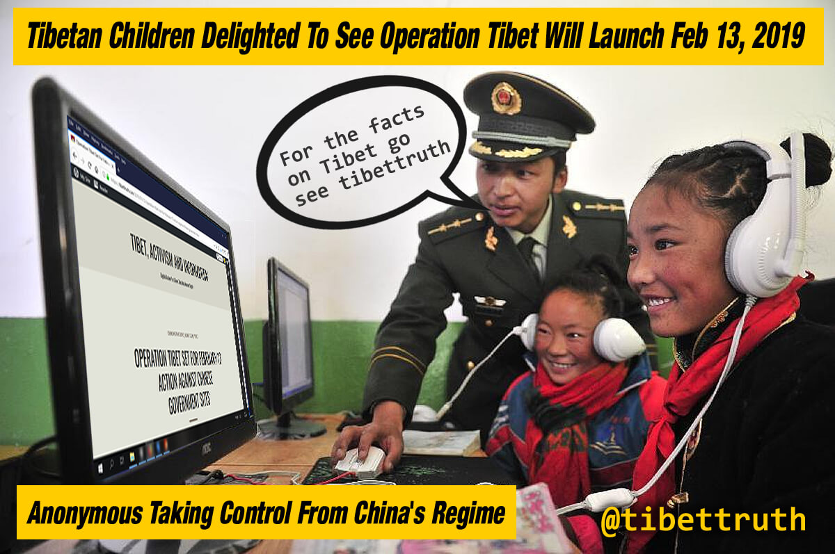 Tibet Supported By Anonymous Activists
