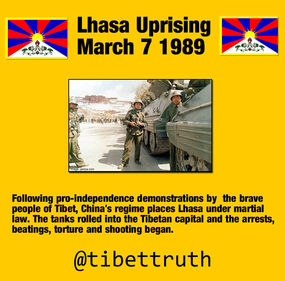 Three Decades To The Day And Tibet Remains Under Martial Law