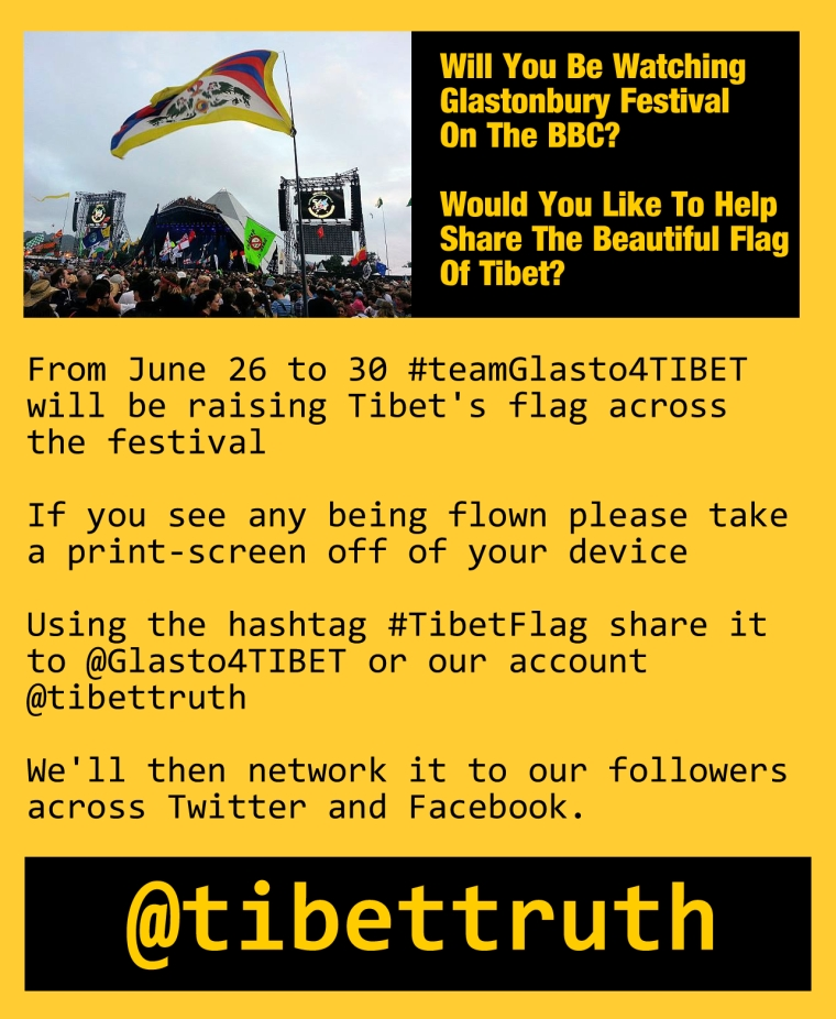 Asking Glastonbury Festival Viewers To Spot Tibet's Flag