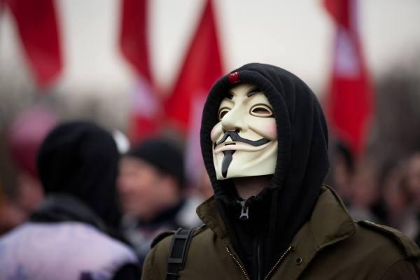 Thanks To Those Anonymous Across The Million Mask March For Supporting Tibet