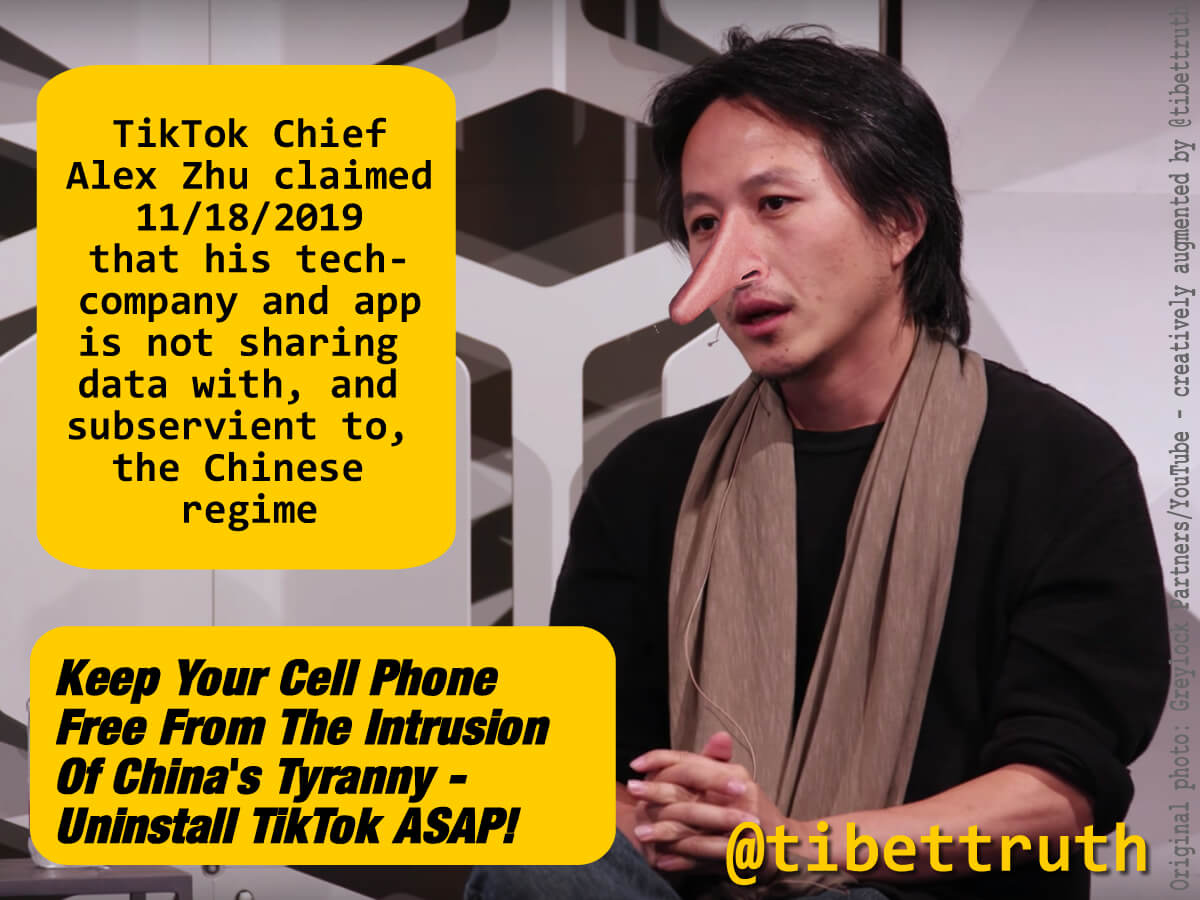 TikTok Chief Claiming Company Is Free From Chinese Regime Control Is Like Dracula Insisting He Doesn't Bite!