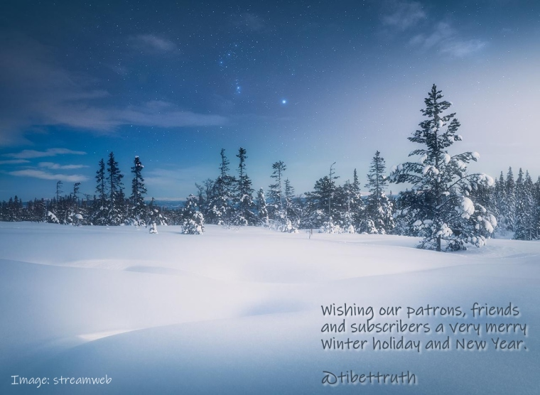 Wishing All Friends Of Tibet's National Freedom A Merry Winter Holiday