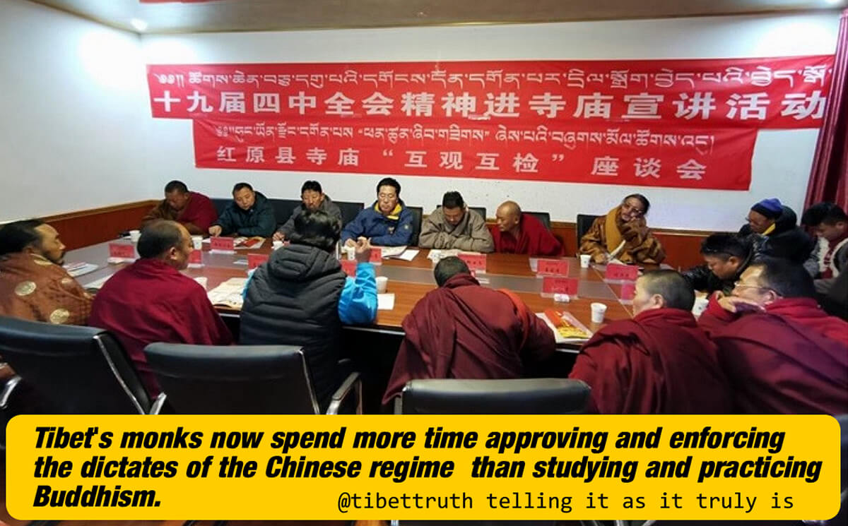 Tibet's Monks Spend More Time Studying The Dictates Of Xi Jinping Than Practicing Buddhism