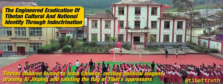 Tibetan Children Indoctrinated To Destroy Tibet's Cultural And National Identity