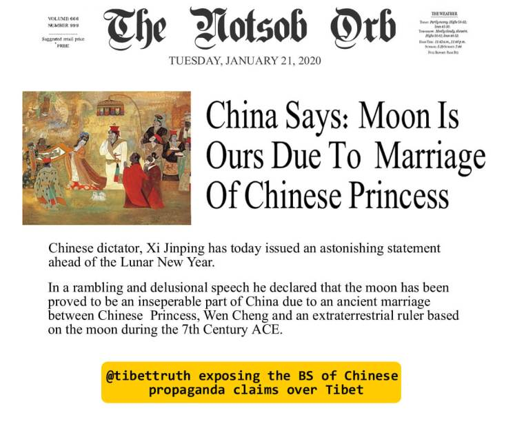 China Uses Its Lunatic Claims On Tibet To Insist The Moon's Chinese Territory