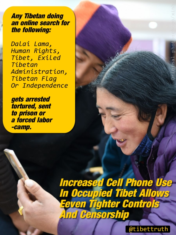 Tibet's Phone Users Under 24/7 Surveillance
