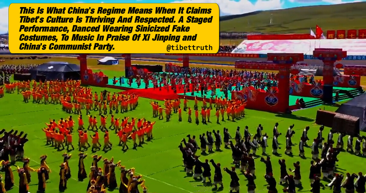 Tibet's Culture Replaced By Chinese Propaganda Circus