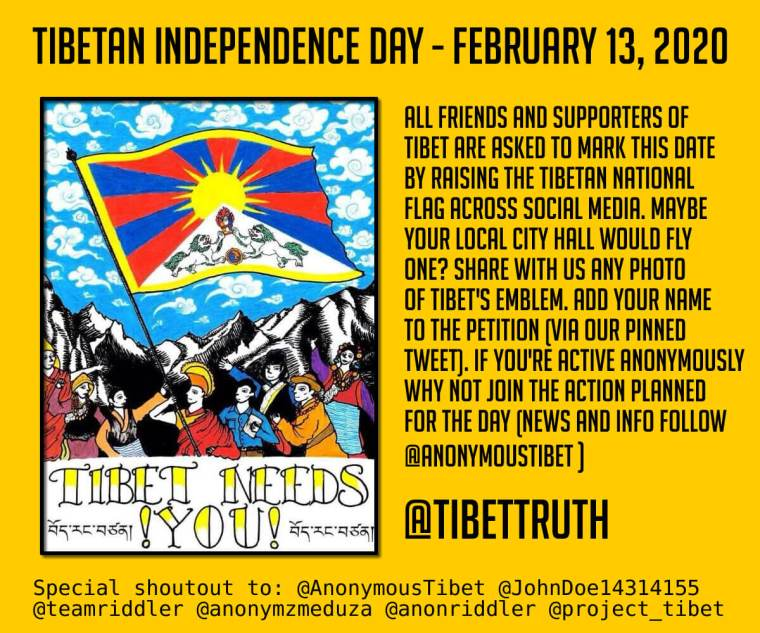 Feb 13 Is Tibet's Independence Day-Join Us!