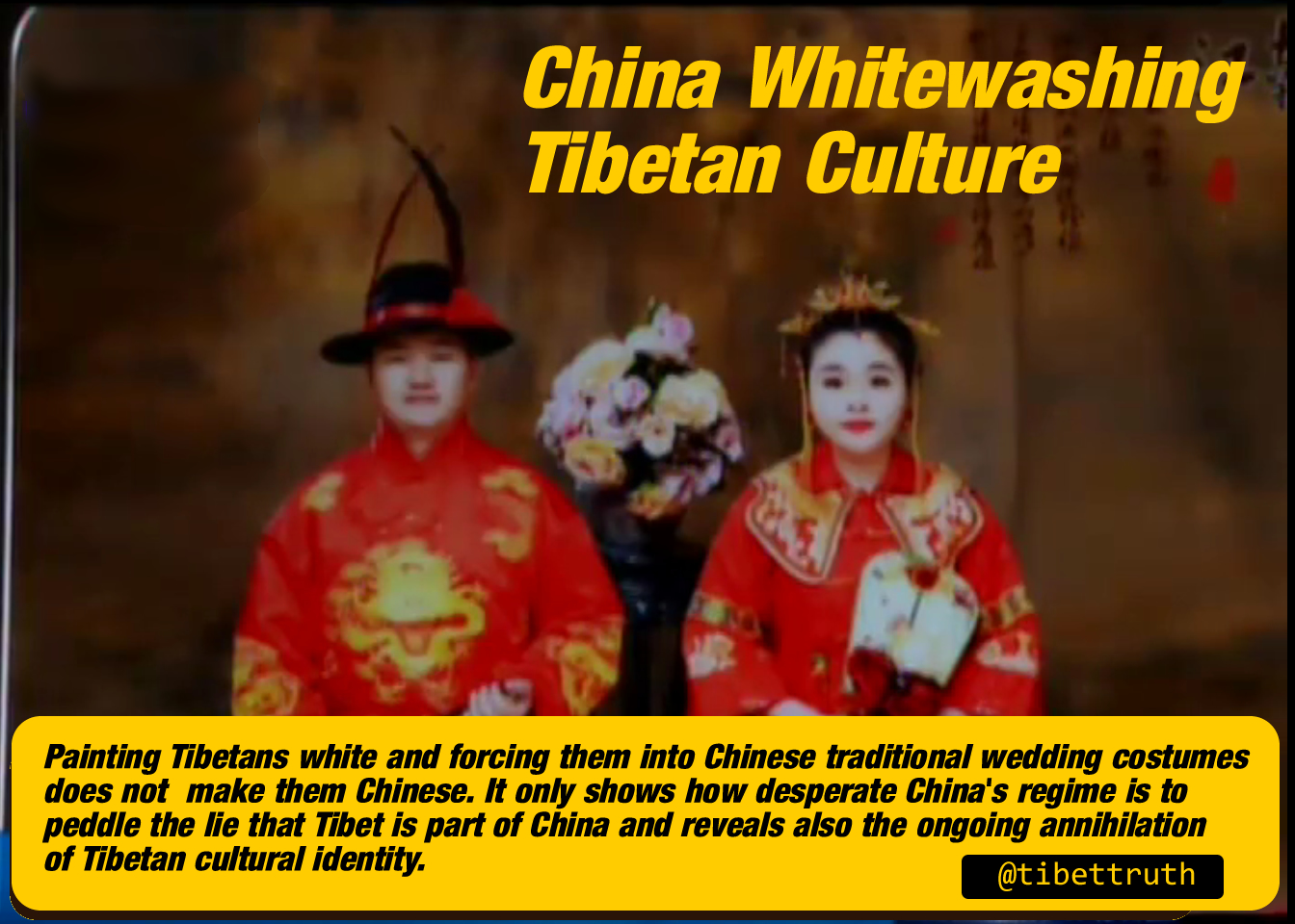 China Whitewashing Tibetan Culture