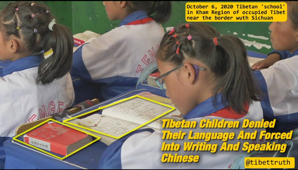 Children Of Tibet Denied Their Language